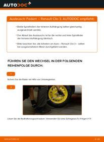 Wie der Wechsel durchführt wird: Federn 1.5 dCi Renault Clio 3 tauschen