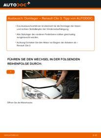 Wie der Wechsel durchführt wird: Domlager 1.5 dCi Renault Clio 3 tauschen