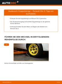Wie der Wechsel durchführt wird: Koppelstange 1.5 dCi Renault Clio 3 tauschen