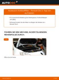 Wie der Wechsel durchführt wird: Kraftstofffilter 1.5 dCi Renault Clio 3 tauschen