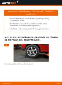 Wie der Wechsel durchführt wird: Stoßdämpfer 1.9 TDI Seat Ibiza 6L1 tauschen