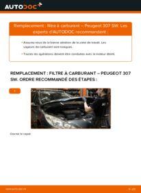Comment effectuer un remplacement de Filtre à Carburant sur 1.6 HDI 110 Peugeot 307 SW