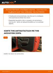 Πώς να πραγματοποιήσετε αντικατάσταση: Κλειδαριές εξωτερικά σε 1.9 TDI Seat Ibiza 6l1