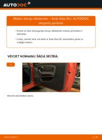 Kā veikt nomaiņu: SEAT IBIZA Ārējā slēdzene