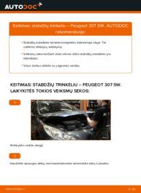 Kaip atlikti keitimą: 1.6 HDI 110 Peugeot 307 SW Stabdžių Kaladėlės