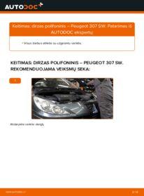 Kaip atlikti keitimą: 1.6 HDI 110 Peugeot 307 SW V formos rumbuotas diržas