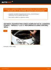 Kaip atlikti keitimą: 1.5 dCi Renault Clio 3 Paskirstymo diržas / komplektas