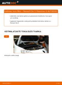 Kaip atlikti keitimą: 1.5 dCi Renault Clio 3 Kuro filtras