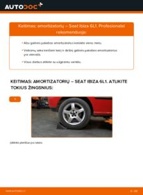 Kaip atlikti keitimą: 1.9 TDI Seat Ibiza 6l1 Amortizatorius
