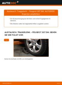 Wie der Wechsel durchführt wird: Traggelenk 1.6 HDI 110 Peugeot 307 SW tauschen