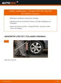 Så byter du Stötdämpare på 1.6 HDI 110 Peugeot 307 SW