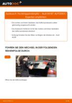 Dämpfer Heckklappe AUDI A4 (8EC, B7) einbauen - Schritt für Schritt Tutorial