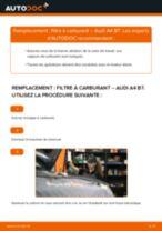 Comment changer : filtre à carburant sur Audi A4 B7 - Guide de remplacement