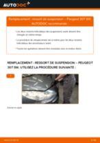 Comment changer : ressort de suspension avant sur Peugeot 307 SW - Guide de remplacement