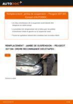 Comment changer : jambe de suspension avant sur Peugeot 307 SW - Guide de remplacement