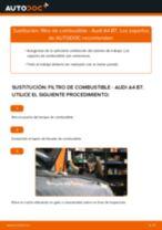 Cómo cambiar: filtro de combustible - Audi A4 B7   Guía de sustitución