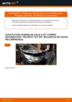 Cómo cambiar: bomba de agua & kit correa distribución - Peugeot 307 SW | Guía de sustitución