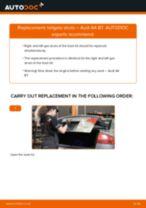PDF replacement tutorial: Boot struts AUDI A4 Saloon (8EC, B7)