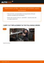 Fitting Air Filter AUDI A4 (8EC, B7) - step-by-step tutorial