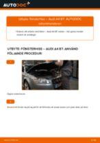 Byta fönsterhiss fram på Audi A4 B7 – utbytesguide