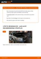 Byta bromsskivor bak på Audi A4 B7 – utbytesguide