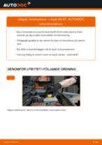 Hur byter man och justera Bärarm AUDI A4: pdf instruktioner