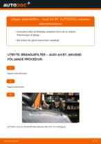 Byta bränslefilter på Audi A4 B7 – utbytesguide
