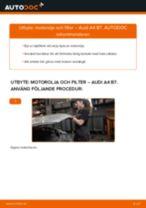 Byta motorolja och filter på Audi A4 B7 – utbytesguide