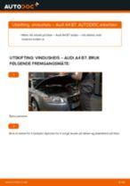 Slik bytter du vindusheis fremme på en Audi A4 B7 – veiledning