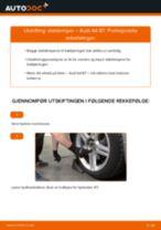 Slik bytter du støtdemper bak på en Audi A4 B7 – veiledning