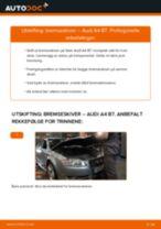 Slik bytter du bremseskiver bak på en Audi A4 B7 – veiledning