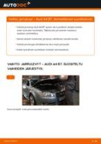Kuinka vaihtaa jarrulevyt taakse Audi A4 B7-autoon – vaihto-ohje
