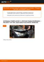 Jak wymienić pompa wody & zestaw paska rozrządu w Peugeot 307 SW - poradnik naprawy