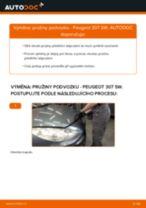 Jak vyměnit přední pružiny podvozku na Peugeot 307 SW – návod k výměně