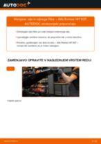 Kako zamenjati avtodel motorna olja in filter na avtu Alfa Romeo 147 937 – vodnik menjave