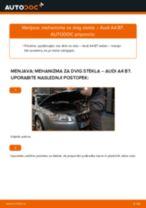 Kako zamenjati avtodel mehanizem dviga stekla spredaj na avtu Audi A4 B7 – vodnik menjave
