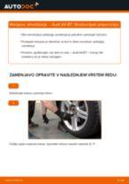 Kako zamenjati avtodel amortizer zadaj na avtu Audi A4 B7 – vodnik menjave