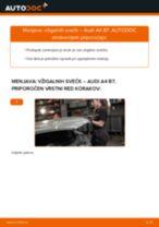 Priročnik PDF o vzdrževanju A8