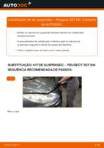 Tutorial passo a passo em PDF sobre a substituição de Amortecedor no PEUGEOT 307 SW (3H)
