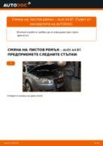Как се сменя пистов ремък на Audi A4 B7 – Ръководство за смяна