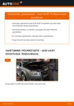 Kuidas vahetada Piduriketas tagumine ja eesmine AUDI A4 (8EC, B7) - juhend online