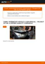Vezérműszíj készlet & vízpumpával-csere Peugeot 307 SW gépkocsin – Útmutató