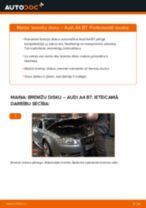 Kā nomainīt: aizmugures bremžu diskus Audi A4 B7 - nomaiņas ceļvedis