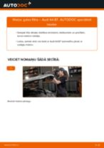 Kronšteins, Stabilizatora bukse nomaiņa AUDI A4: tiešsaistes pamācības