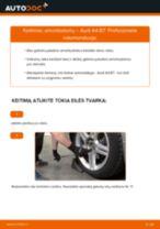 Kaip pakeisti Audi A4 B7 amortizatorių: galas - keitimo instrukcija