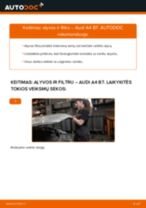 Kaip pakeisti Audi A4 B7 variklio alyvos ir alyvos filtra - keitimo instrukcija