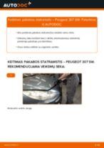 Kaip pakeisti Peugeot 307 SW pakabos statramstis: priekis - keitimo instrukcija