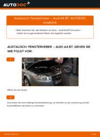 Wie der Wechsel durchführt wird: Fensterheber 2.0 TDI 16V Audi A4 B7 Limousine tauschen