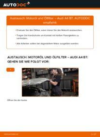 Wie der Wechsel durchführt wird: Ölfilter 2.0 TDI 16V Audi A4 B7 Limousine tauschen