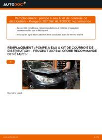Comment effectuer un remplacement de Pompe à Eau + Kit De Distribution sur 1.6 HDI 110 Peugeot 307 SW